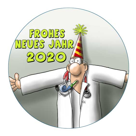 Cartoon zu Silvester 2020